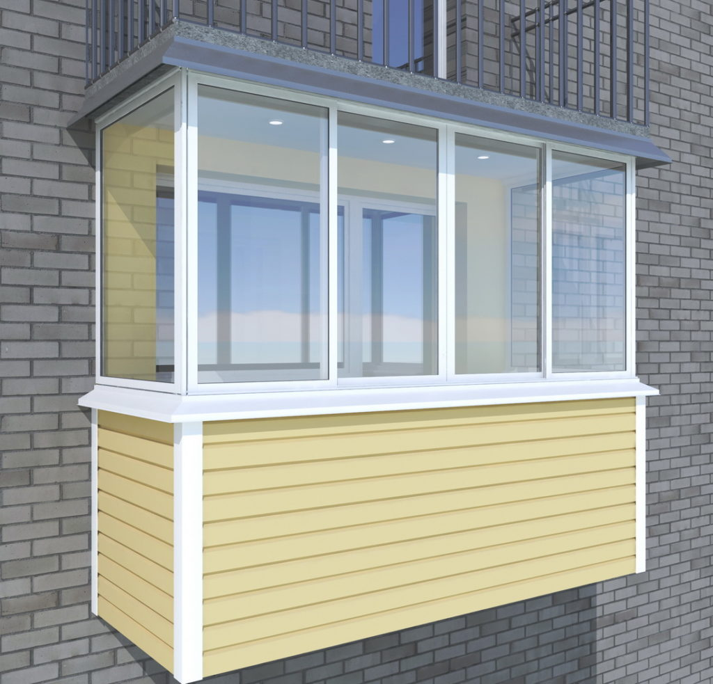 Балкон отделка сайдингом